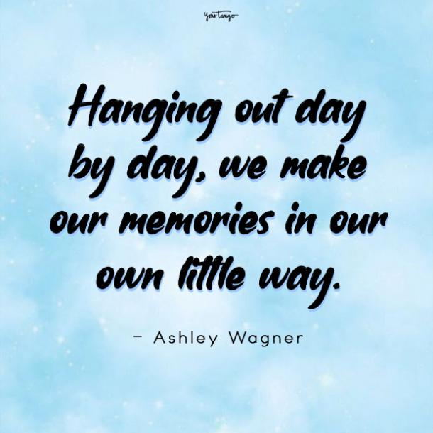 Ashley Wagner good times with friend quote