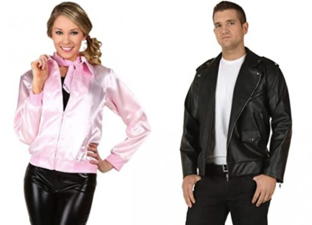 grease pink ladies and greaser couples costume