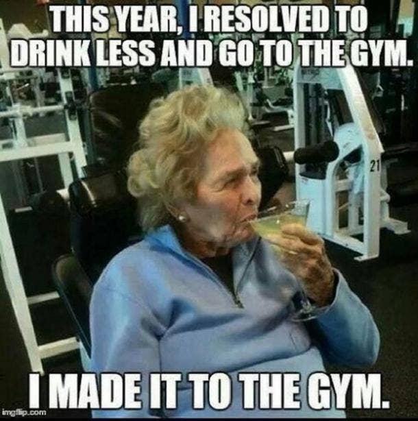 gym funny new year meme