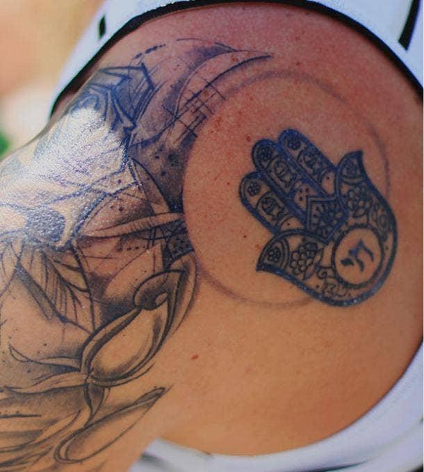 hamsa tattoo idea for women