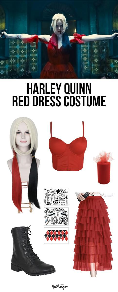 Harley Quinn Red Dress The Suicide Squad Costume