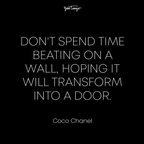 coco chanel healing from divorce quotes