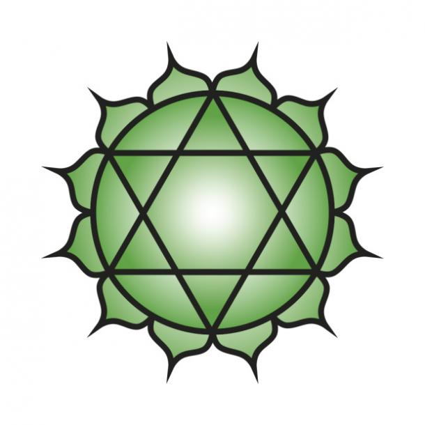 heart chakra love symbol