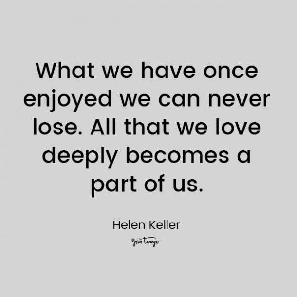 helen keller love quote for him