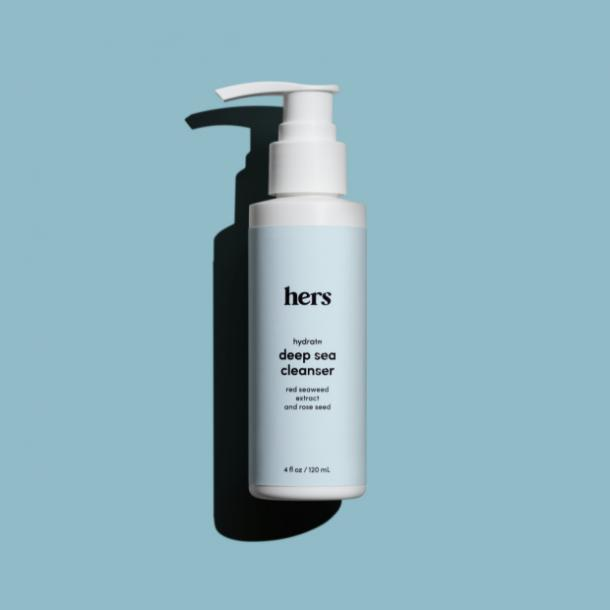 hers deep sea facial cleanser for acne