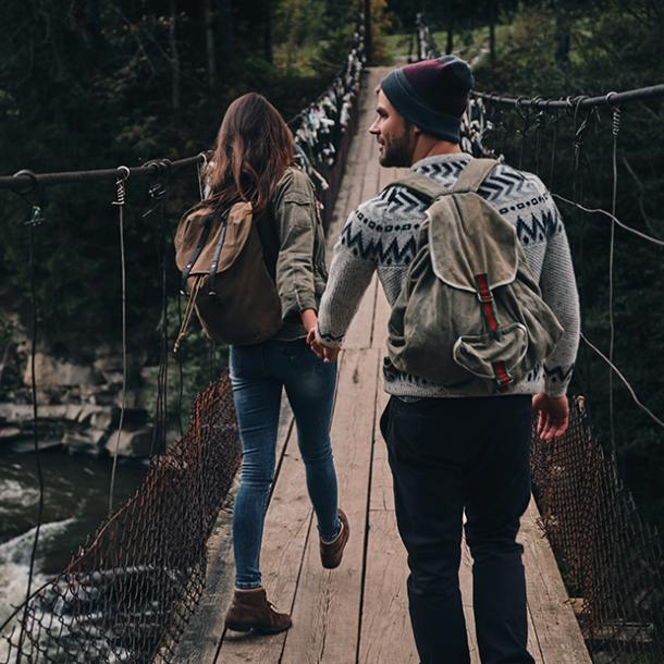 getting over infidelity couple hiking together
