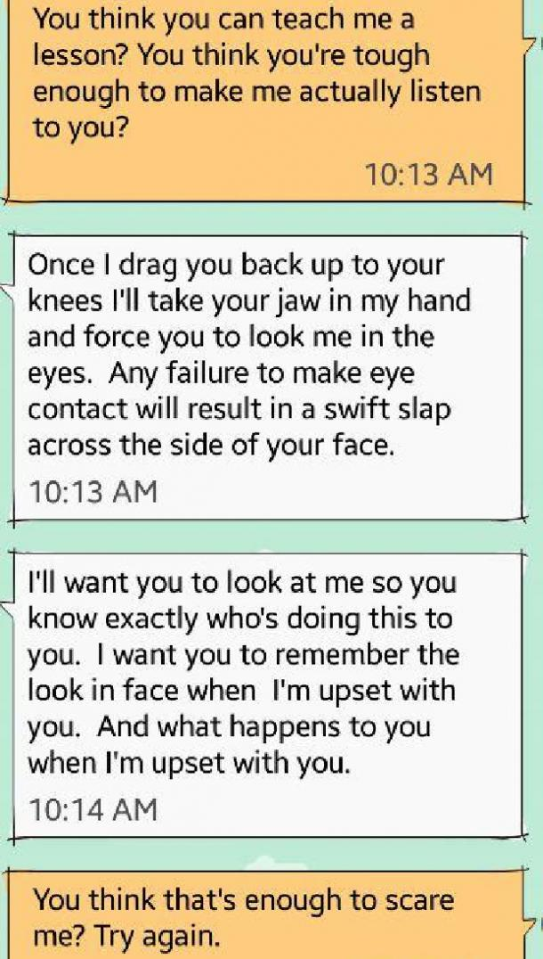 how to be a dominant over text punishment part 2