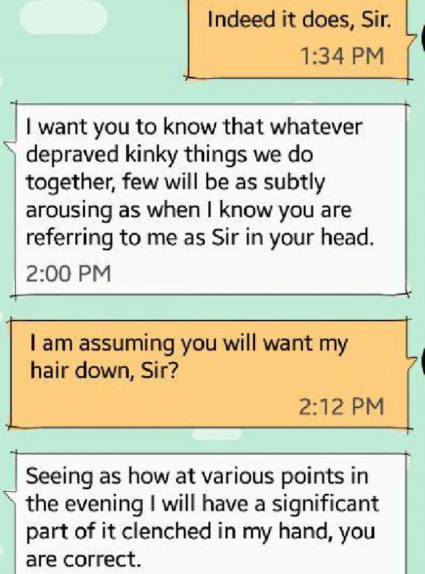how to be dominant over text sir