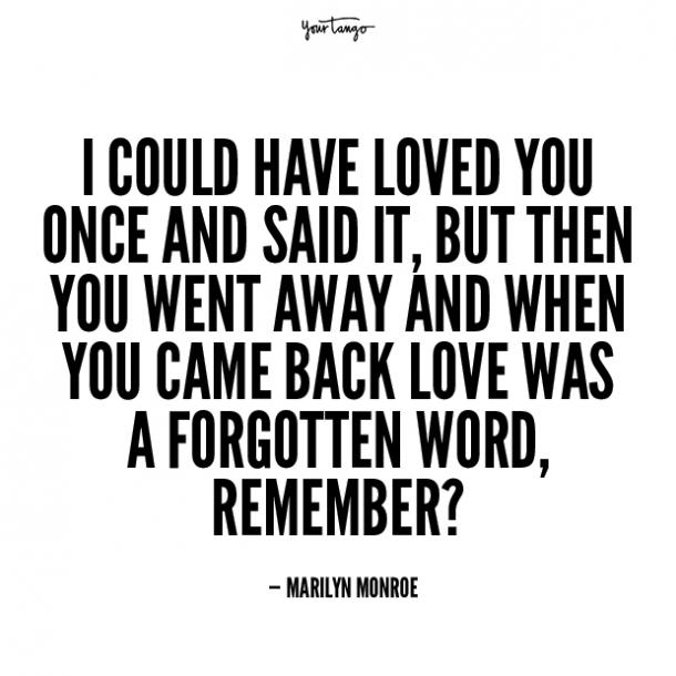 marilyn monroe unhappy relationship quotes