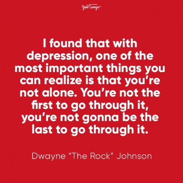 Dwayne The Rock Johnson mental health quote