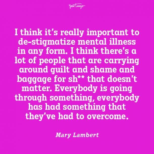 Mary Lambert mental health quote