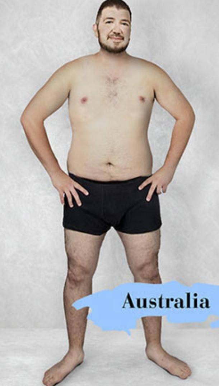 ideal male body type in Australia