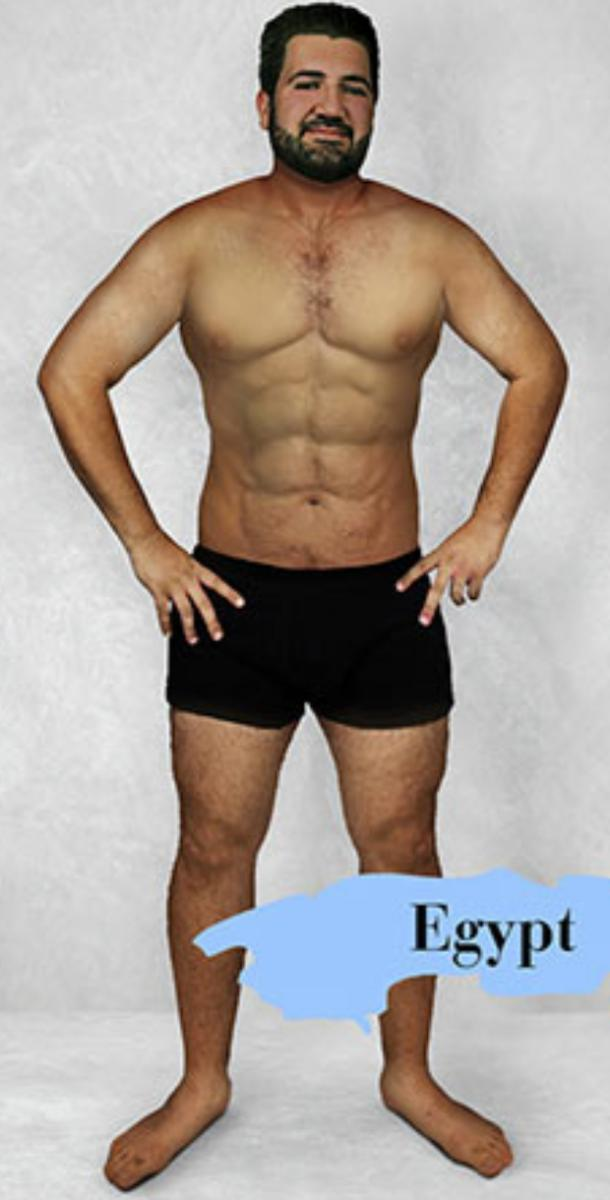ideal male body type in Egypt