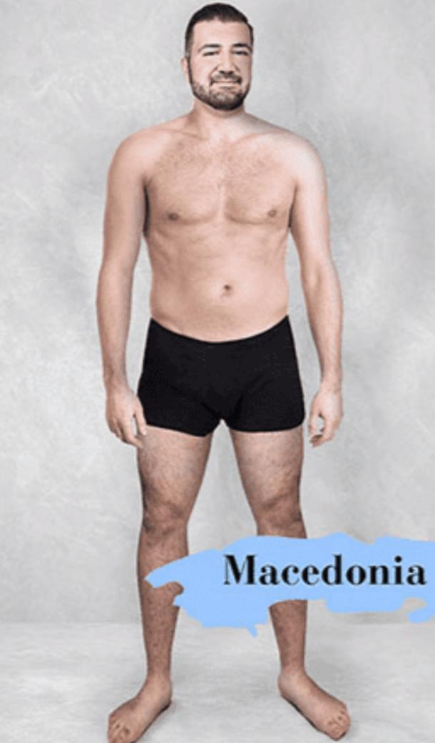 ideal male body type in Macedonia
