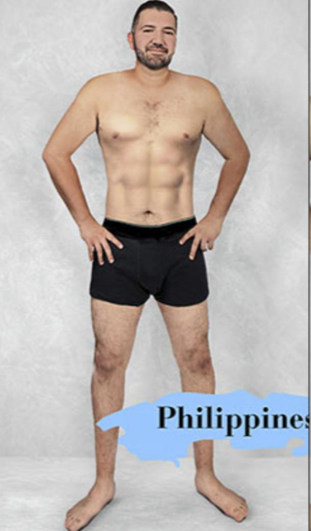 ideal male body type in Philippines