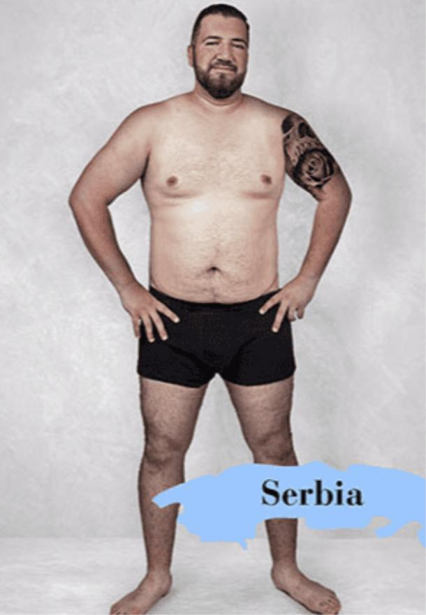 ideal male body type in Serbia