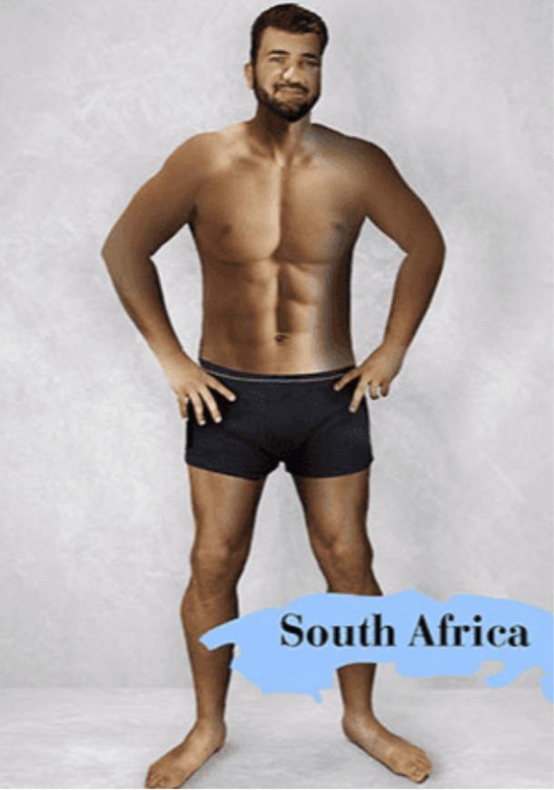 ideal male body type in South Africa