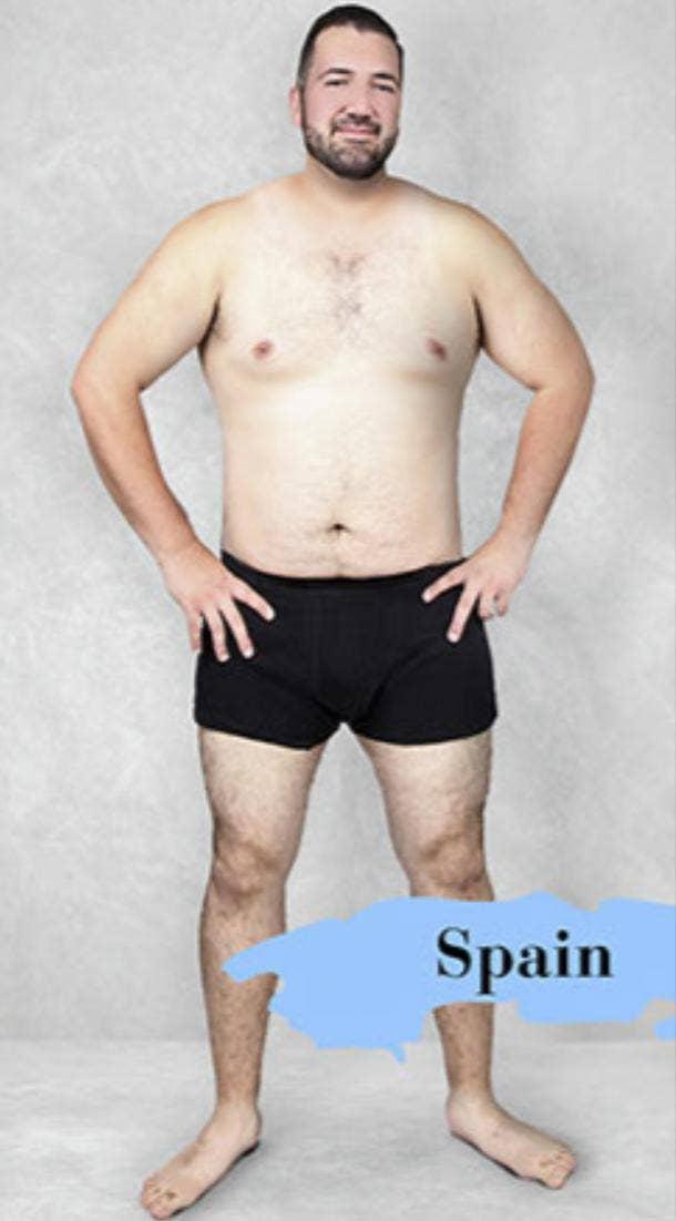 ideal male body type in Spain