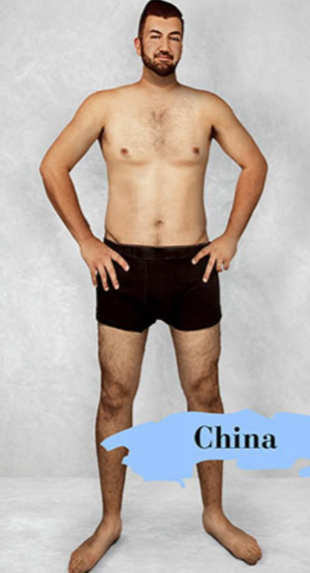ideal male body type in China