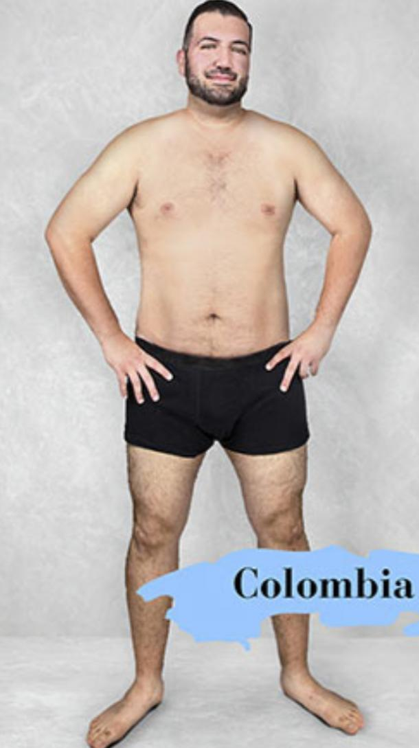 ideal male body type in Colombia