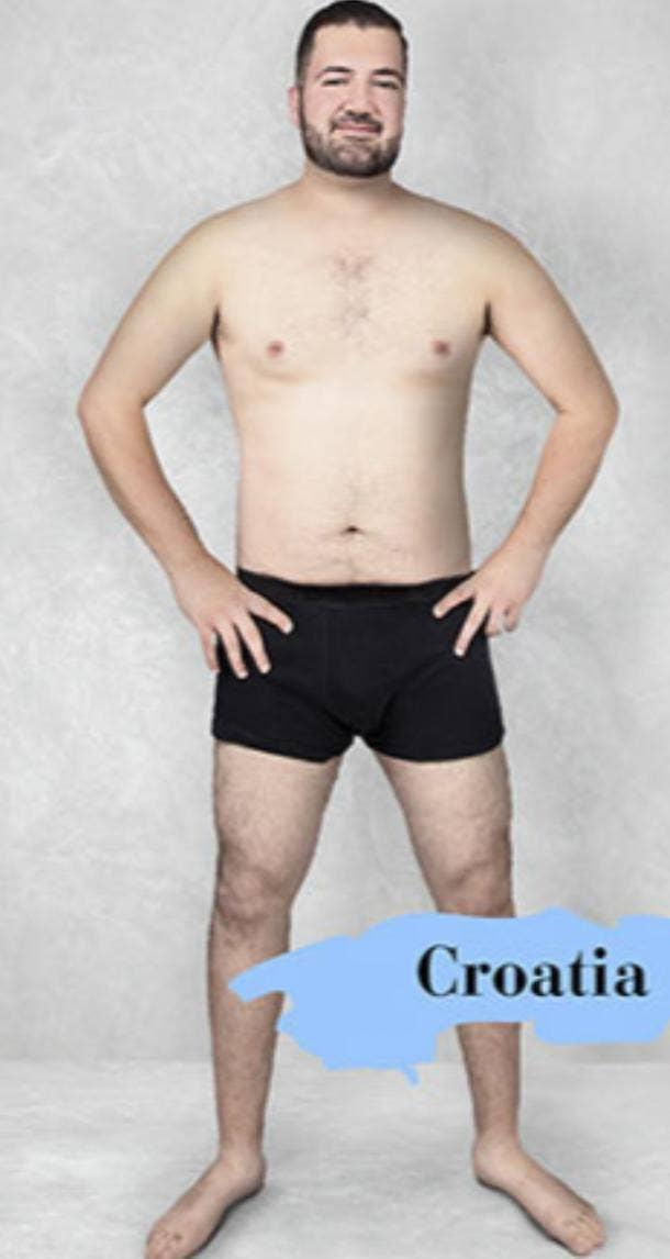 ideal male body type in Croatia
