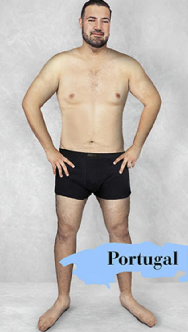 ideal male body type in Portugal