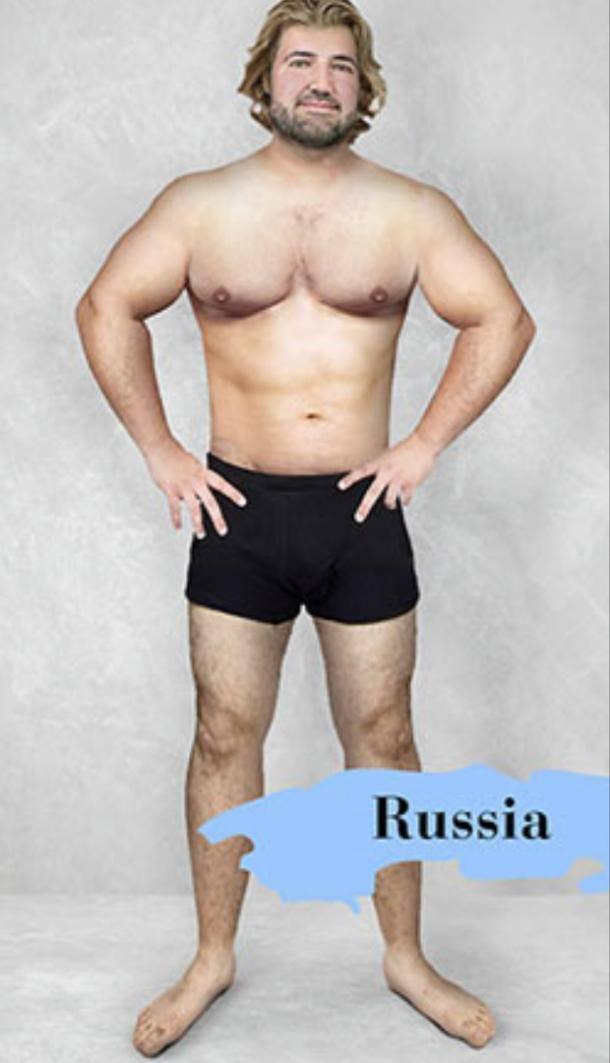 ideal male body type in Russia