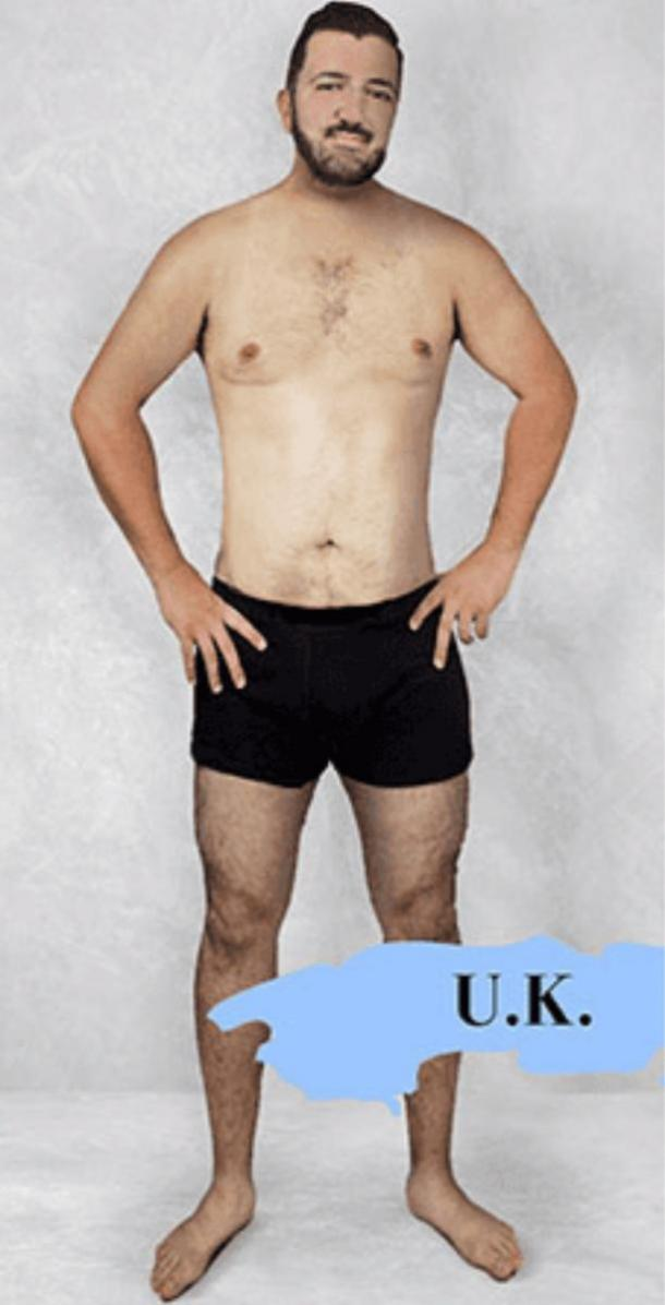 ideal male body type in the UK