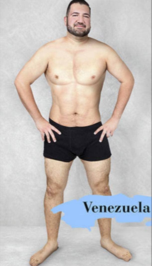 ideal male body type in Venezuela