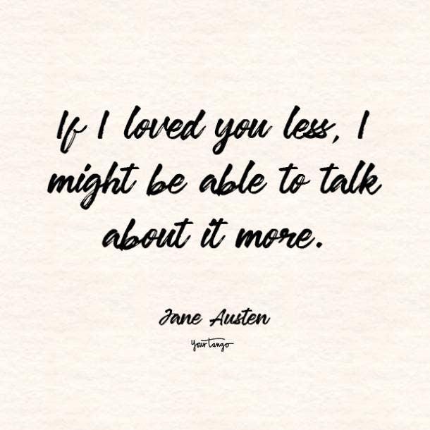 jane austen i love you quote