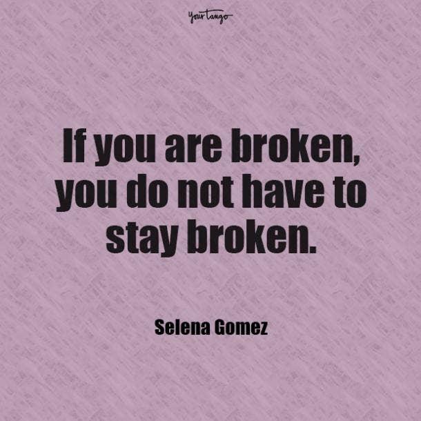 Selena Gomez mental health quote