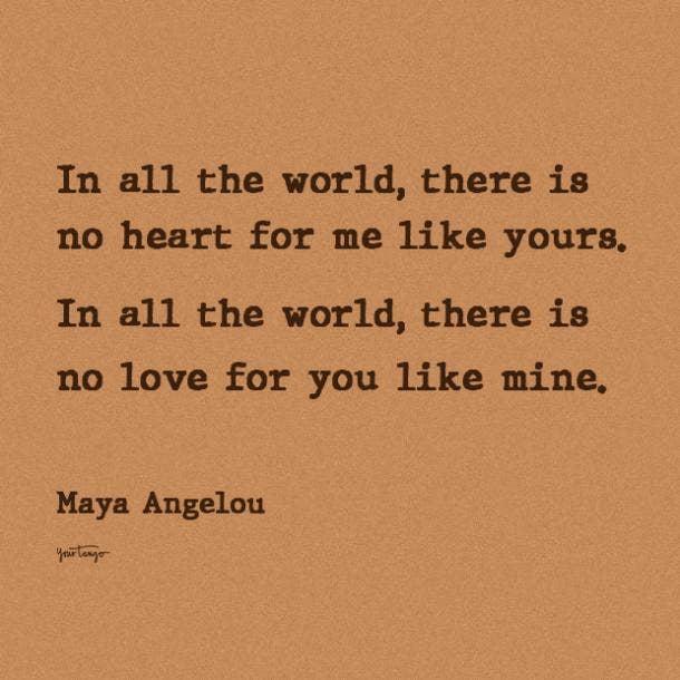 maya angelou i love you quote
