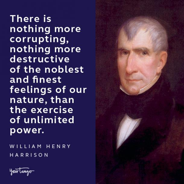 william henry harrison presidents day quote