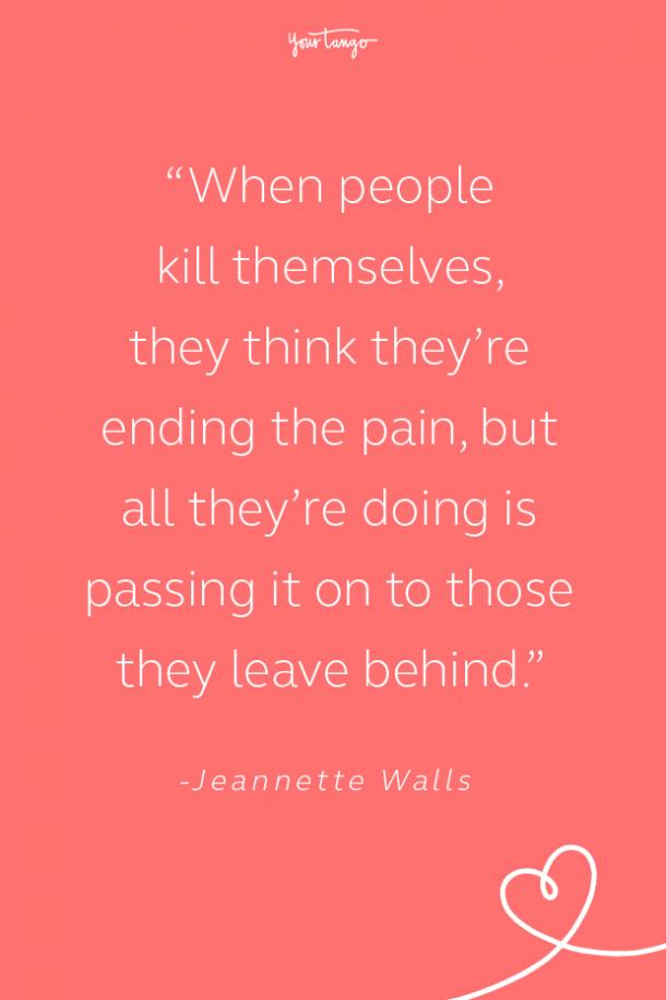 Jeannette Walls Suicide Prevention Quote