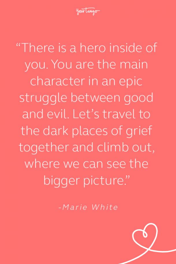 marie white suicide prevention quote