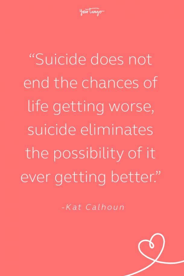 Kat Calhoun Suicide Prevention Quote