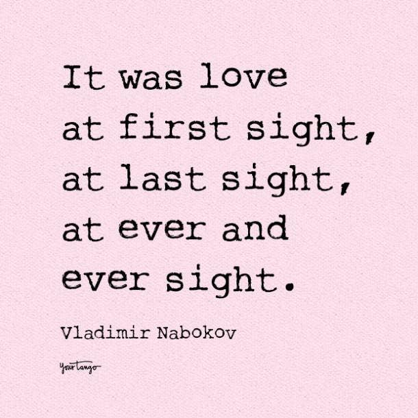 Vladimir Nabokov i love you quote