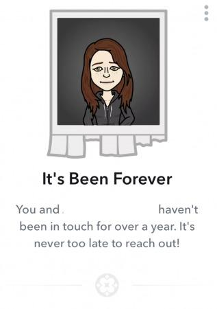 snapchat it's been forever charm