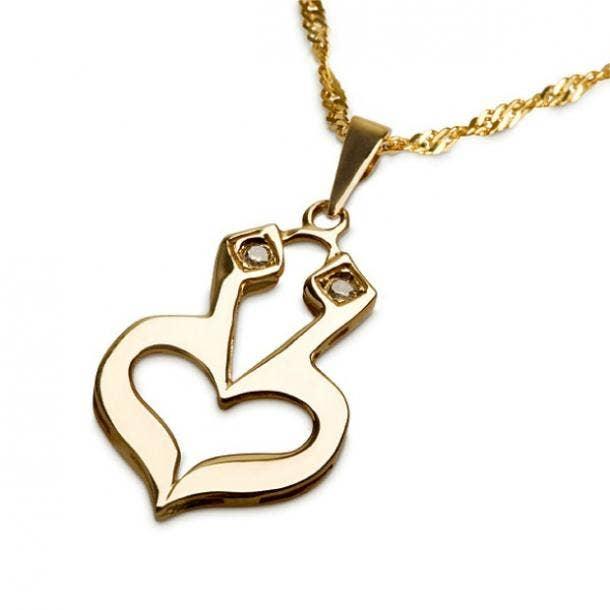 Jewish heart love symbol