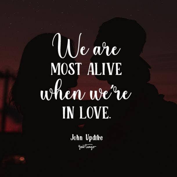 john updike romantic quotes