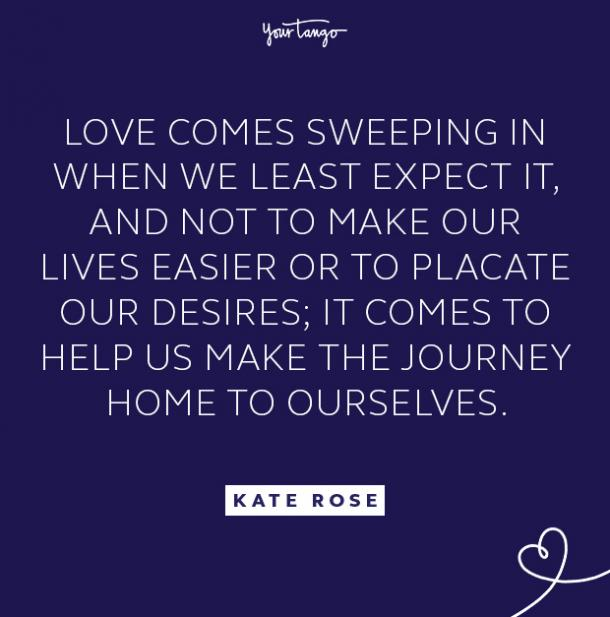 kate rose least expect quote