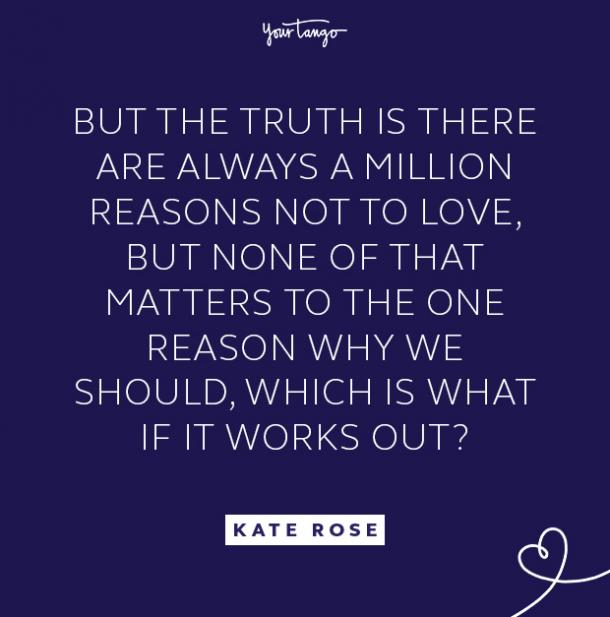kate rose million reasons quote