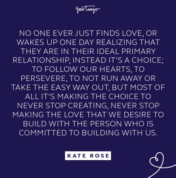 kate rose wakes up quote