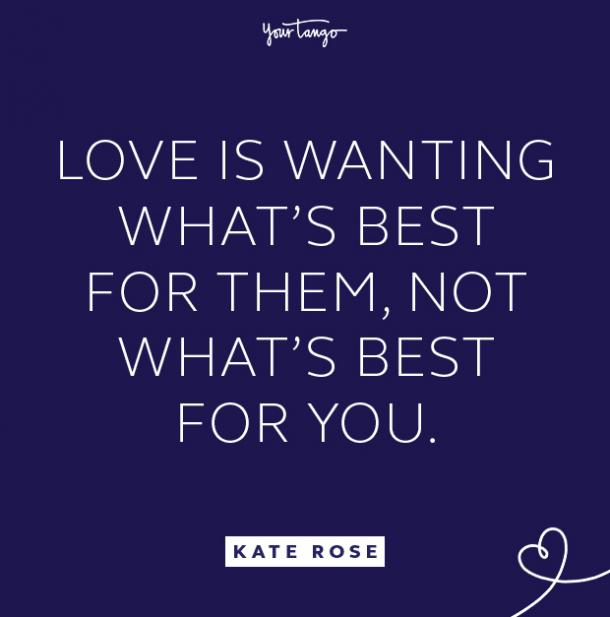 kate rose wanting what's best quote
