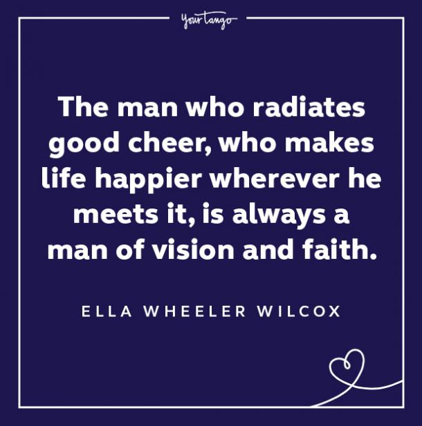 Ella Wheeler Wilcox keep your chin up quotes