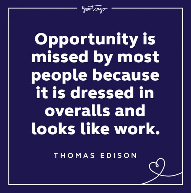 thomas edison keep your chin up quotes