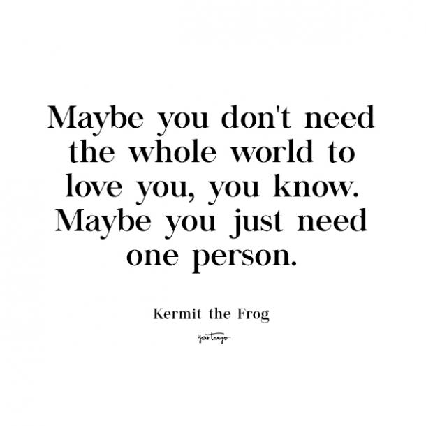 kermit the frog cute love quote