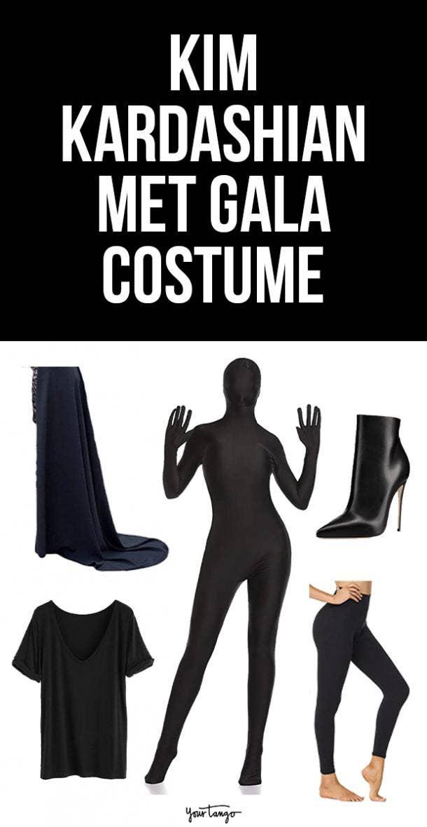 Kim Kardashian's Black Balenciaga Halloween Costume Idea