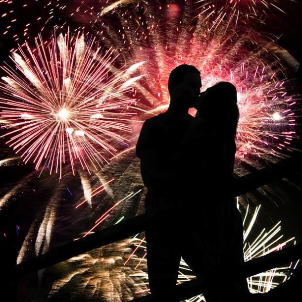 during fireworks best places to make out