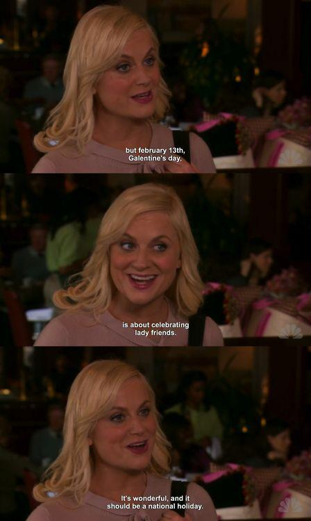 leslie knope galentine's day